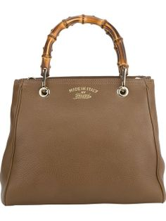 3b7c8d9536 Women - Gucci 'Bamboo' Tote Bag . brown calf leather . two bamboo round