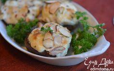 Фаршированные грибы с крабовым соусом | Кулинарные рецепты от «Едим дома!»