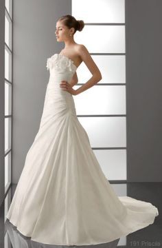 vestido novia palabra de honor Aire Palabra de www.palmiracompilar.com #homenajeatuangel