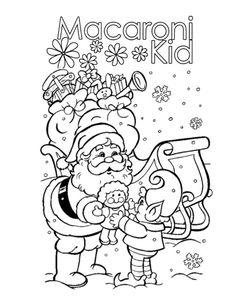 Santa Clasu Coloring Page | #Santa #HolidayFun | www.middletown.macaronikid.com