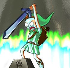 Rick and Morty x The Legend of Zelda
