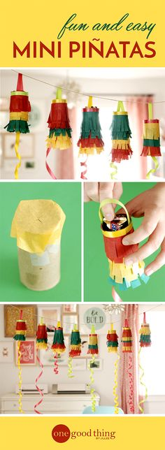 Take your party to the next level with these super easy mini piñatas!
