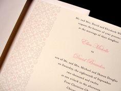 Formal and Fabulous Custom Color Wedding Invitation Spring Summer