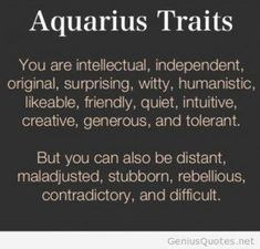 ... Aquarius Personality Traits ...