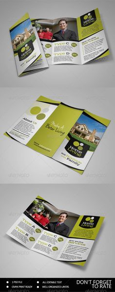 """Living Real Estate Trifold Brochure by sehatco  """"Living Real Estate Trifold Brochure Template""""is a great brochure for promote your company and other necessary,get this one of :"""