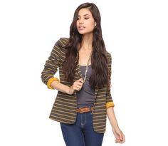 Forever 21 Striped Knit Blazer, $25