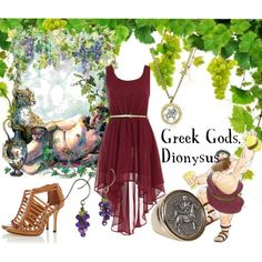 """Dionysus the Greek God of Wine"" by old-clock-long-time on Polyvore"