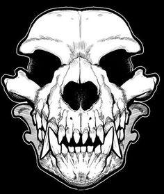 Werewolf Skull Bandana: http://skullappreciationsociety.com/werewolf-skull-bandana/ via @Skull_Society