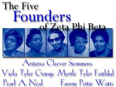 Zeta Phi Beta Five Pearls | believe that no [other] organization could have been founded ...