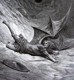 nigra-lux: DORÉ, Gustave (1832-1883) Illustration for John Milton's Paradise Lost, detail1866EngravingEd. Orig. Lic. Ed.