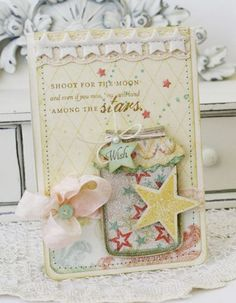 Shoot For The Moon Card by Melissa Phillips for Papertrey Ink (March 2012)