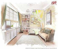 Дизайн детской в квартире http://www.ok-interiordesign.ru/dizayn-kvartiry-na-voykovskoy-foto.php