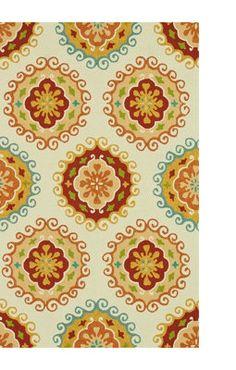 Love this Sunshine Ivory Multi Outdoor Area Rug!