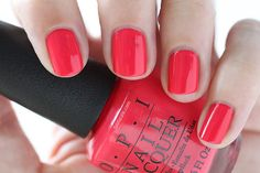 OPI New Orleans She's A Bad Muffuletta! Red Cream Nail Polish - Summer Nails