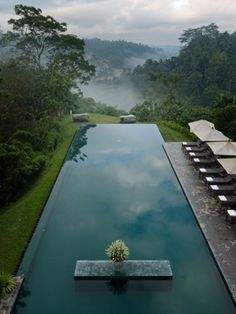 Alila Ubud Resort.Payangan, Bali  Erin Hearts Court/ The knot   There's no more alluring or exotic spot to wed than this mystical hillside retreat flanked by mountains and tropical gardens and forests. Host your nuptials in a traditional open-air pavilion with authentic Balinese flair, or by one of the world's most amazing infinity pools (AlilaHotels.com).