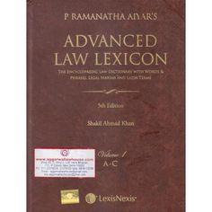 LexisNexis P Ramanatha Aiyar Advanced Law Lexicon (Set of 4 Vols) Edition 2017
