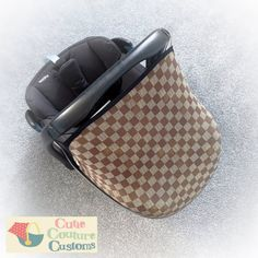 Car Seat Cover For Cabriofix Universal Pebble Maxi Cosi Car seat Checkered Replacement Hood, Baby Gift Sunshade, Sun Canopy, Baby Car Seat Accessories, Baby Accessories, Travel Accessories, Car Seat Liner, Custom Canopy, Gifts For New Parents, Cute Cars, Practical Gifts, Parent Gifts