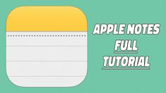 Apple Notes App Tips And Tricks - Your Ultimate Apple Notes Guide! - YouTube