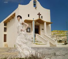 Irish Brides magazine shot on location in Gozo, Malta Fashion Editorials, Malta, Editorial Fashion, High Fashion, Brides, Irish, Magazine, Malt Beer, Couture