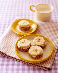 Banana Tahini Bites Recipem- breakfast!