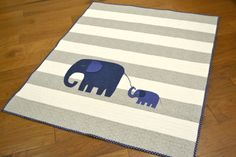 Elephant Baby Quilt - Must Love Quilts