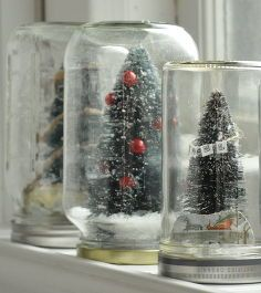 diy holiday waterless diorama style snow globes, diy home crafts, seasonal holiday d cor, Get creative with your recyclables