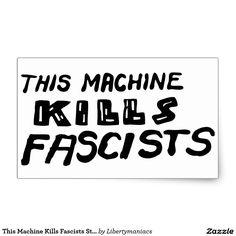 Esta máquina mata al sistema del pegatina de los