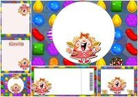 Candy Crush Party: Free Printable Invitations.                                                                                                                                                                                 More
