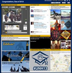 Ways an event can be shared on social media:   UNH Commencement Social Media Dashboard