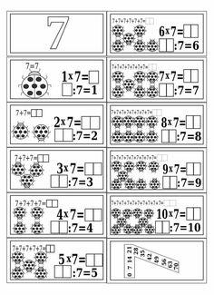 Tafel van 7 Teaching Multiplication, Teaching Math, 2nd Grade Math, Math Class, Kids Math Worksheets, Math Activities, Aperol, Math Sheets, Writing Anchor Charts