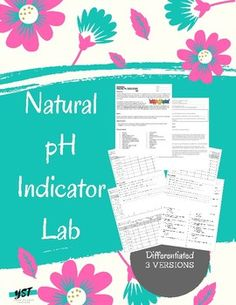 Students will explore pH and natural indicators by testing common items. This lab is differentiated to three different levels of inquiry to allow you to cater the lab to the needs of your students. Answer Key included for pre and post-lab questions and the lab