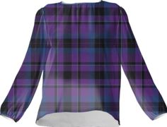 Purple Tartan Silk Top - Available Here: http://printallover.me/collections/sondersky/products/0000000p-purple-tartan-6