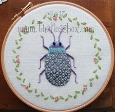 The Floss Box | Beetle Crewel Embroidery