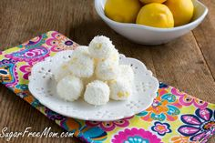 No Bake Sugar-Free Lemon Coconut Truffles by Sugar-Free Mom