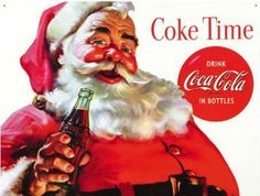Coca Cola Santa Coke Tin Sign is a brand new vintage tin sign made to look vintage, old, antique, retro. Purchase your vintage tin sign from the Vintage Sign Shack and save. Coca Cola Vintage, Vintage Tin Signs, Vintage Santas, Vintage Christmas, Retro Vintage, Retro Ads, Vintage Decor, Vintage Stuff, Vintage Photos