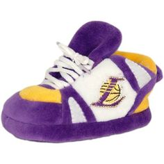 Los Angeles Lakers Baby Slipper in Purple / White / Yellow Size: One Size Fits All by Comfy Feet. $16.20