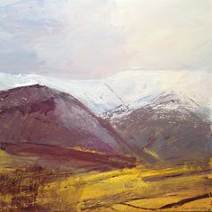 Cumbrian Landscapes - Tracy Levine.  Love that yellow in the foreground.  Beautiful contrast to the sky.