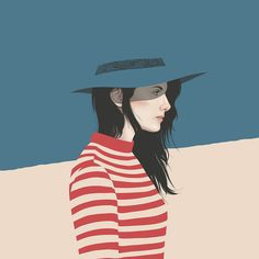 Yuschav Arlyis a graphic designer and digital illustrator from Bali, Indonesia. After half a decade in the graphic design world, he now primarily focuses on digital illustration. His stunning, vector portraits of women are minimalistic and clean, yet elegant and full of restrained emotion.