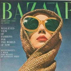 Harper's Bazaar, February 1960 photographer: Richard Avedon a cover from the Diana Vreeland era Diana Vreeland, Vogue Vintage, Vintage Vogue Covers, Vintage Fashion, Richard Avedon, Magazine Mode, Vogue Magazine, Editorial Magazine, Magazin Covers