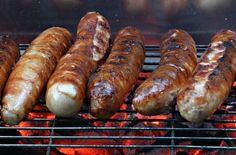 Bratwurst - the best bratwurst is made on a charcoal grill. Served in a bun with mustard - find out more about German sausages @ www.mybestgermanrecipes.com