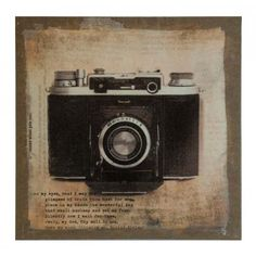 Vintage camera canvas