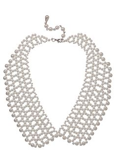 Faux Pearl Collar Necklace available at #Maurices
