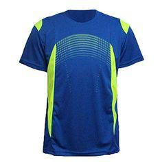 eae7e21c65c67 ZITY Sportswear Men s 100% Polyester Moisture-Wicking Short-Sleeve T-Shirt  Blue