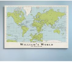 My Sweet Prints Canvas World Map here at ministyle
