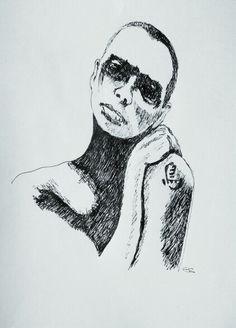 Pendrawing sketches portrait dessin stylo