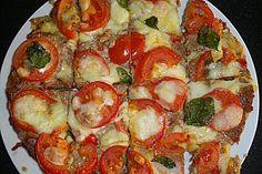 Hackfleisch-Pizza, ein schönes Rezept aus der Kategorie Gemüse. Bewertungen: 62. Durchschnitt: Ø 4,1.