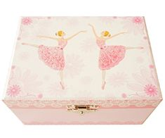 "Lily & Ally / Flower Ballerina Musical Jewelry Box, Melody of ""Waltz of the flowers"" with Satin Ribbon Ponytail Holders Ballerina Music Box Music Box Ballerina, Ballerina Jewelry Box, Ballerina Doll, Little Girl Gifts, Little Girl Birthday, Little Girls, Musical Jewelry Box, Girls Jewelry, Musicals"