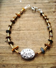 Crystallized Wood Bracelet by LightedLights on Etsy, $14.79