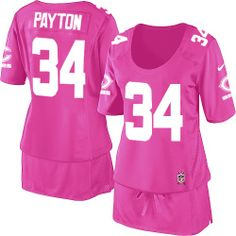$79.99 Women's Nike Chicago Bears #34 Walter Payton Limited Breast Cancer Awareness Pink Jersey