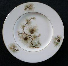 "Lenox China Pine Bread Plate 6-3/8"" Pattern Number W-331 #Lenox"